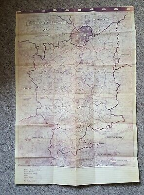 Vintage Selby District Council Map - Doncaster, Wakefield, York, Selby