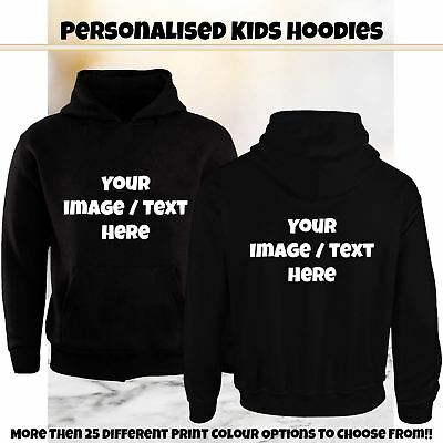 Personalised Kids Hoodie Custom Printed Hoodie Childrens Hooded Jumper Xmas Gift