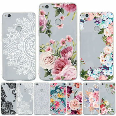 For Huawei P8 P9 P10 Lite 2017 P20 Pro Painting Clear Slim Soft TPU Case Cover
