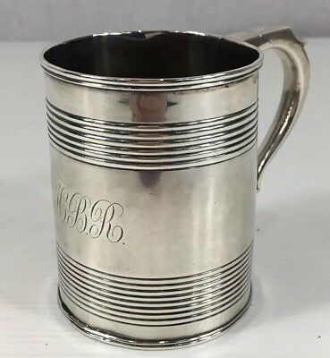 Antique 1797 Solid Silver Christening Mug 9cm In Height 175g