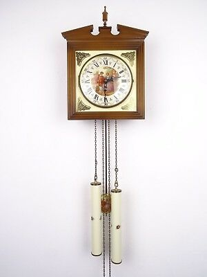 German Fragonard Schmeckenbecher Antique Vintage Wall Clock 8 day (Junghans era)