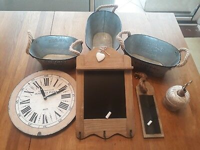 job lot of various gifts, household goods inc. planters,black boards,clock