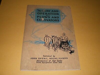 1928 Illustrated Brochure Booklet John Deere Care Operation Plows & Cultivators