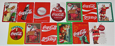 COCA COLA - 13 SINGLE Vintage Swap Playing Trading Cards COKE Advertising