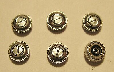 Lot of 6 Vintage NOS Genuine Elgin Stainless Steel 5mm Waterproof Watch Crowns