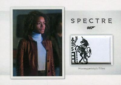James Bond Archives Spectre Moneypenny's Files Relic Prop Card MR4 #108/150