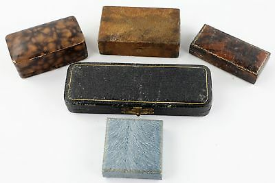 5 Vintage & Antique Jewellery Boxes inc Branded, Silk Lined PERFECT FOR DISPLAY