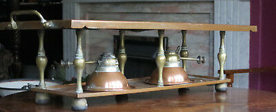W A S Benson Copper Brass Plate Warmer With Two Burners