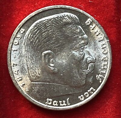 Germany Third Reich 1936A 5 Mark Silver Coin