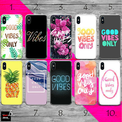 GOOD VIBES ONLY HOT SUMMER THIN TPU plastic silicon case cover iPhone Xs R MAX 8