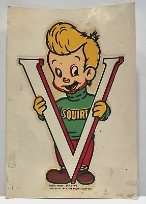 WWII Squirt Soda Boy 1942 Decal V For Victory