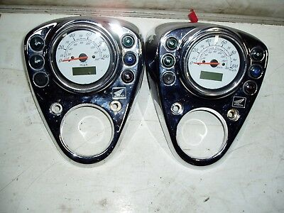 Honda Vt125 Shadow Clocks Speedometer In Mph  & Chrome Surround With Lights