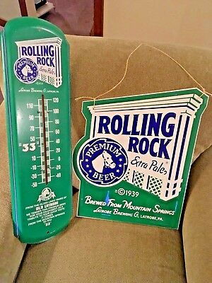 Vintage Rolling Rock Wall Thermometer - Works Great - Great Advertisement Piece!