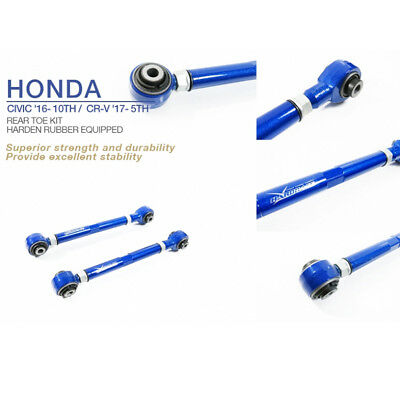 Hardrace Rear Toe Kit Harden Rubber Honda Civic Type R Fk8 18+