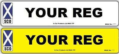 Pair of Scotland 3D MOT UK Road Legal Car Van Reg Registration Number Plates