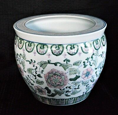 Vintage Famille Rose Extra Large Chinese Porcelain Planter
