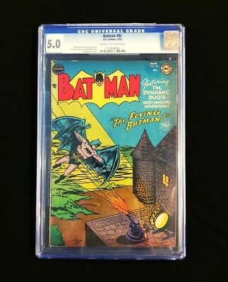 BATMAN #82 CGC 5.0 Cr/OW RARE Solo Batman Cover! DC 1954  Golden Age