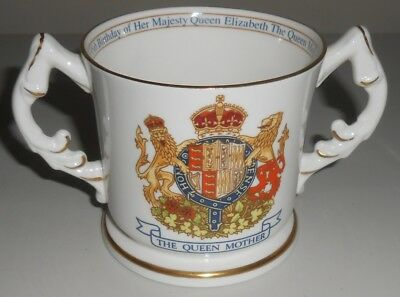 Aynsley China Commemorative Mug Queen Mother 95th Birthday                  Pw