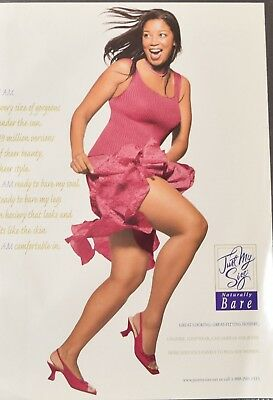 """Hanes """"Just My Size"""" Plus Size Pantyhose Ad from Mode Magazine,"""