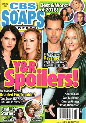 CBS Soaps In Depth Magazine November 26 2018 Young & the Restless Best Worst of