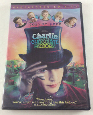 Charlie and the Chocolate Factory New Sealed DVD 2005 Widescreen Edition Movie!