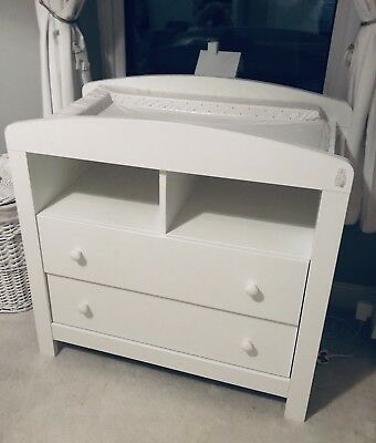 White Wooden Mothercare Changing Unit
