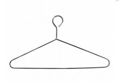 """(24) 17"""" Anti theft chrome plated steel metal hotel security hangers closed hook"""