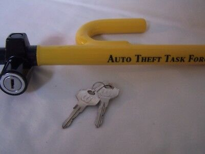 Steering Wheel Lock with 2 Keys / NEW Auto Theft Task Force Anti Theft Bar