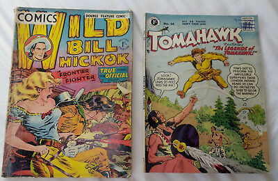 2 Vintage Collectable British Edition Comics from 1950s - Tomahawk #26