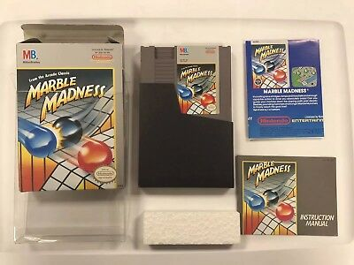 Marble Madness Nintendo NES COMPLETE BOX MANUAL POSTER CIB NR MINT FAST SHIPPING