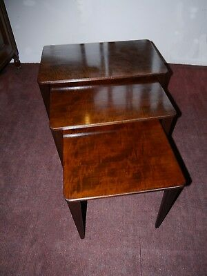 A Stylish Mid Century Mahogany Nest Of Tables By Gordon Russell -  All Labelled
