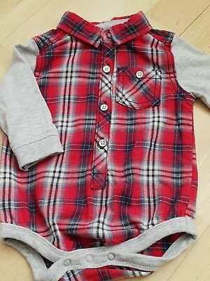 Baby boy's check shirt 0-3 months new without tags