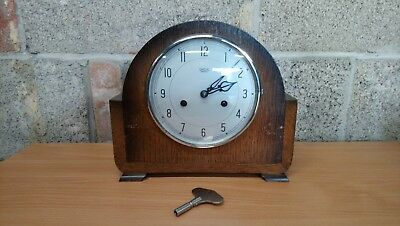 Vintage Smiths Enfield Striking Mantel Working With A Key