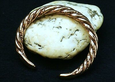 Viking Armlet Bronze Sturdy 75g Twisted Wrist Jewellery Bronzeschmuck Bangle