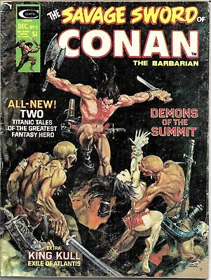 The Savage Sword Of Conan #3 ~ 1974 Curtis Comics ~ GD/VG ~ Charity