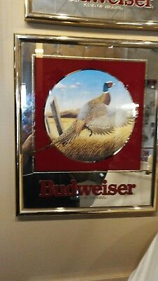 Budweiser Beer Mirror Sign - The PHEASANT (1992)