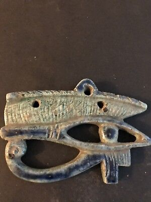 Rare Large Ancient Egyptian Faience Pendant  Horus Eye 650-530 BC