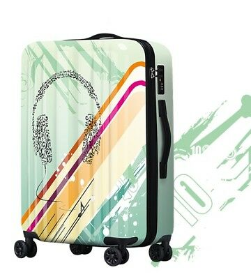 D834 Lock Universal Wheel ABS+PC Travel Suitcase Cabin Luggage 24 Inches W