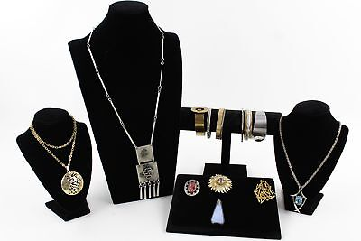15 x Vintage Mid Century MODERNIST JEWELLERY inc Statement Necklaces & Bracelets