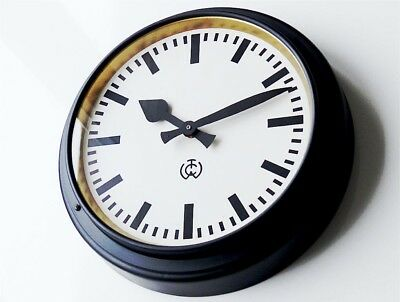LARGE 1920 Antique german CTW Industrial Clock factory wall Bauhaus old rare