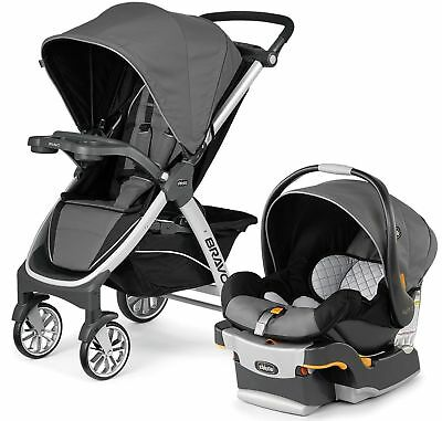 New Chicco Bravo Trio 3-in-1 Baby Travel System Stroller w/ KeyFit 30 Orion