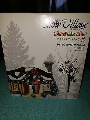 Dept 56 Snow Village Christmas Lane The Ornament House Brand New In Box