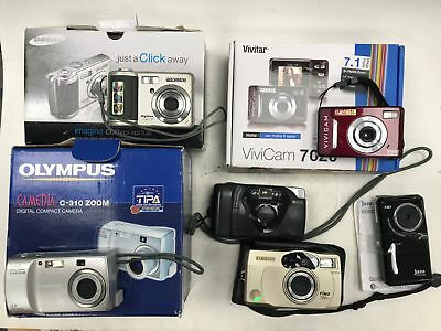 Job Lot 6 x Camera's, Untested, Spares or Repairs #444