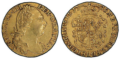GREAT BRITAIN George III 1776 AV Guinea PCGS AU50 Popular revolutionary date.