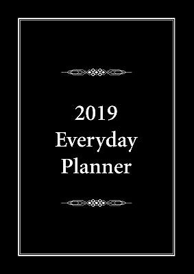 2019 Everyday Planner A4 Black by Bartel FREE POSTAGE (NEW)