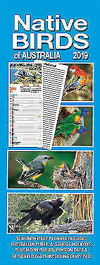 2019 Native Birds of Australia Vertical Wall Calendar Daily Planner 15cm x 40cm