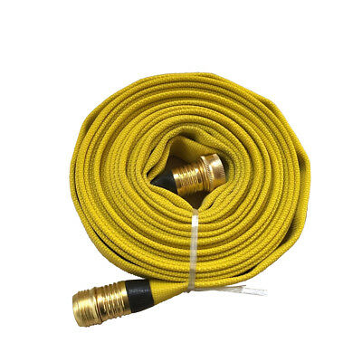 Fire Hose, 3/4In.x 25 Ft.,  Yellow, 250 Psi, High-Quality Flexible Lining