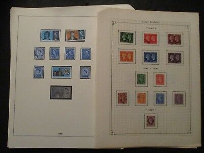 Great Britain Stamps 1965 True 2004 Lot of 33 Pages New And Used
