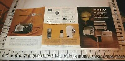 1963 Sony All Transistor Radios Television And Transceivers Folder