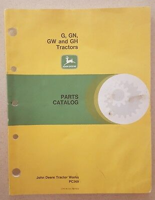 John Deere G, GN, GW, and GH Tractors Parts Catalog (used good condition)